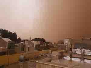 گرد و غبار در آخرین ساعات سال ۱۳۹۵